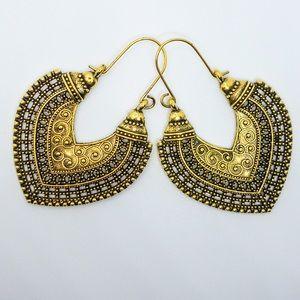 Boho Gypsy Style Gold Earrings